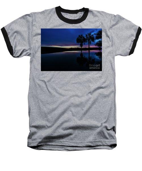 Baseball T-Shirt featuring the photograph Sunset Palms by Brian Jones