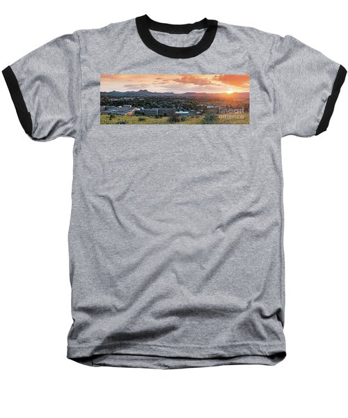 Sunset Panorama Of Alpine And Sul Ross State University - Brewster County - Far West Texas Baseball T-Shirt