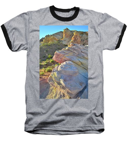 Sunset Pastels In Valley Of Fire Baseball T-Shirt