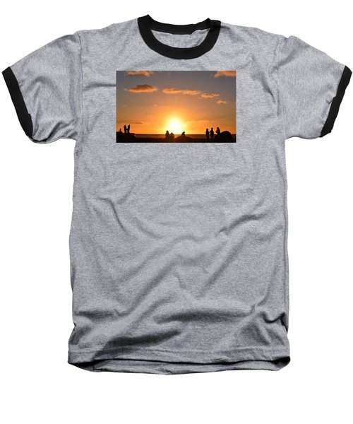 Sunset People In Imperial Beach Baseball T-Shirt