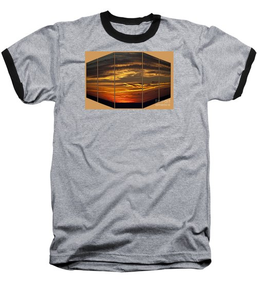 Baseball T-Shirt featuring the photograph Sunset Perspective by Shirley Mangini