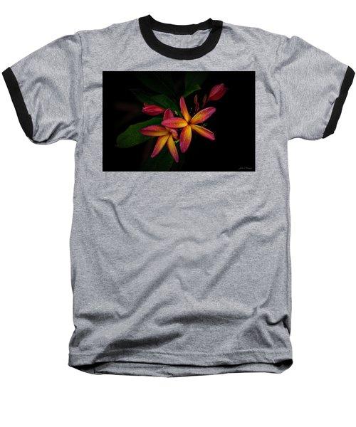 Sunset Plumerias In Bloom #2 Baseball T-Shirt