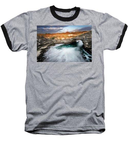 Sunset Point In Broken Beach Baseball T-Shirt