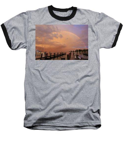 Baseball T-Shirt featuring the photograph Sunset Rainbow by Jennifer Casey