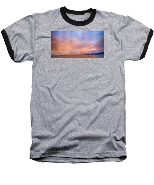 Baseball T-Shirt featuring the photograph Sunset Rainbow by Steve Siri