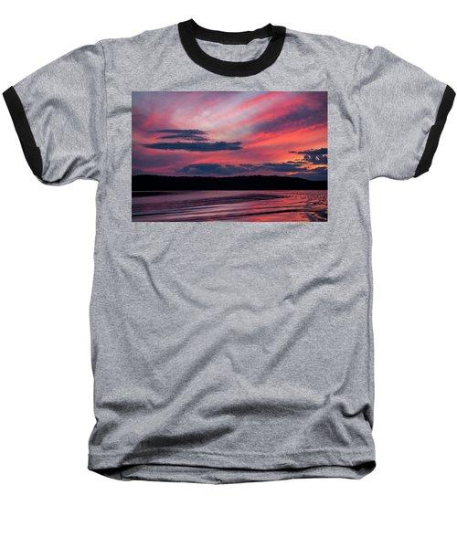Sunset Red Lake Baseball T-Shirt
