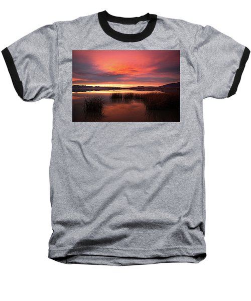 Sunset Reeds On Utah Lake Baseball T-Shirt