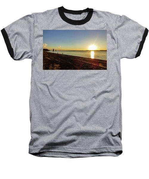 Sunset Reflecting On The Uruguay River Baseball T-Shirt