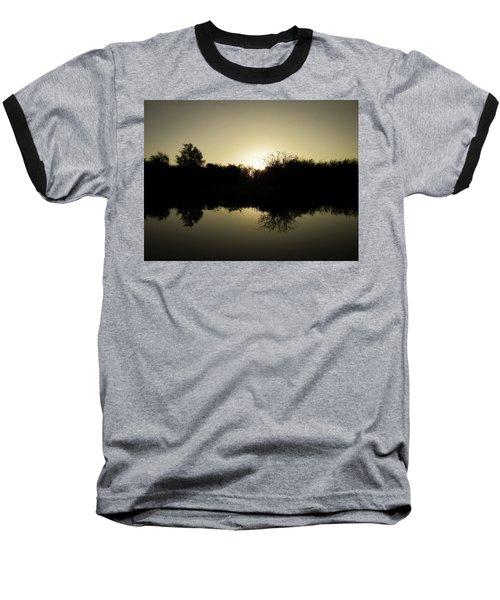 Sunset Reflecting On Water Baseball T-Shirt