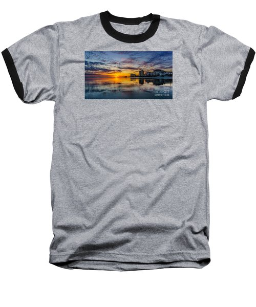 Sunset Reflection Baseball T-Shirt