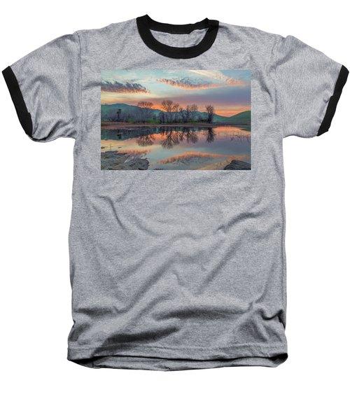 Sunset Reflection Baseball T-Shirt by Marc Crumpler