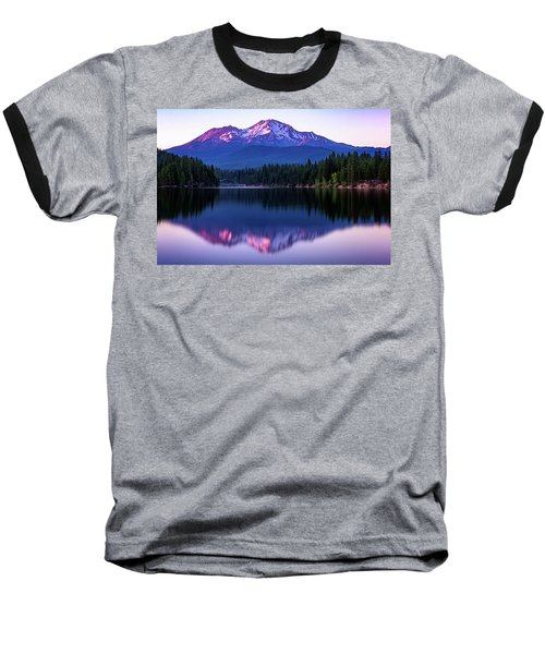 Sunset Reflection On Lake Siskiyou Of Mount Shasta Baseball T-Shirt