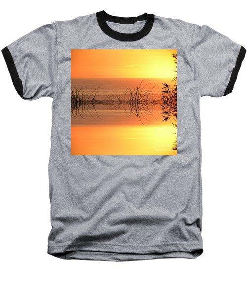 Sunset Reflection Baseball T-Shirt by Sheila Ping