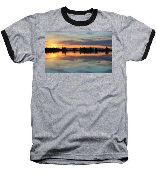 Sunset Reflections Baseball T-Shirt by AJ Schibig