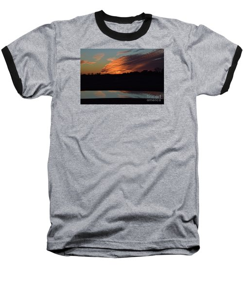Baseball T-Shirt featuring the photograph Sunset Reflections by Mark McReynolds
