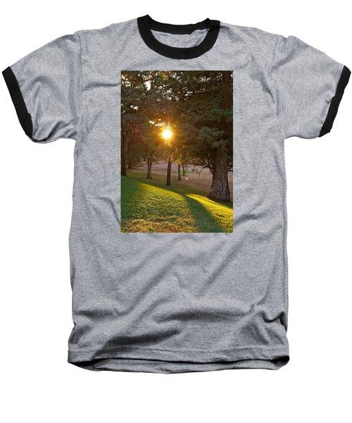 Sunset Retreat Baseball T-Shirt by Michele Myers