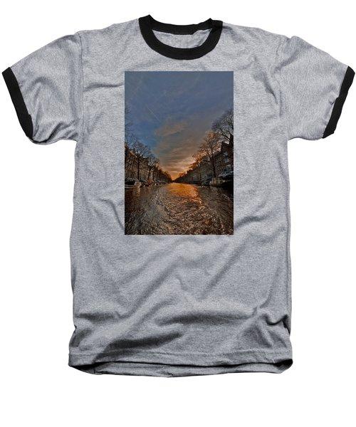 Sunset Ripples Baseball T-Shirt