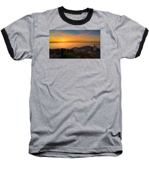 Sunset Baseball T-Shirt by Robert Krajnc
