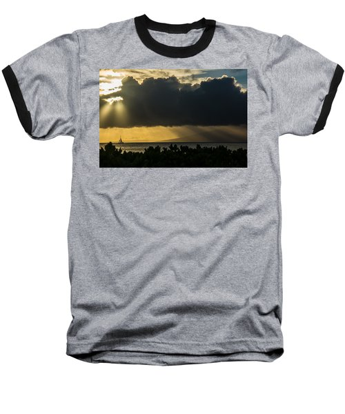 Baseball T-Shirt featuring the photograph Sunset Sail by Colleen Coccia