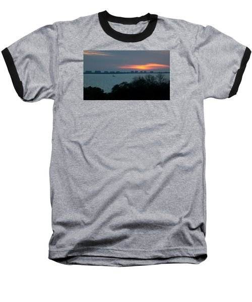 Sunset Sail On Sarasota Bay Baseball T-Shirt