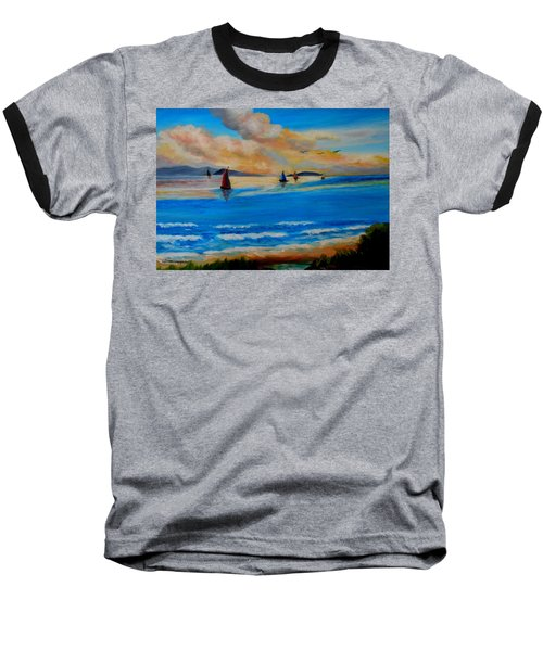 Sunset Sailing Baseball T-Shirt