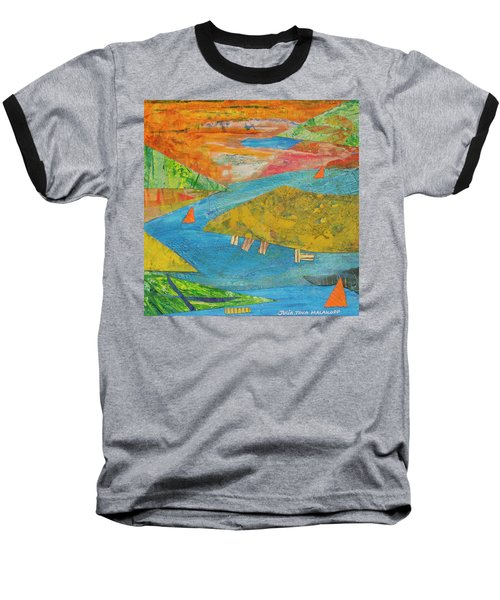 Sunset Sails 1 Baseball T-Shirt
