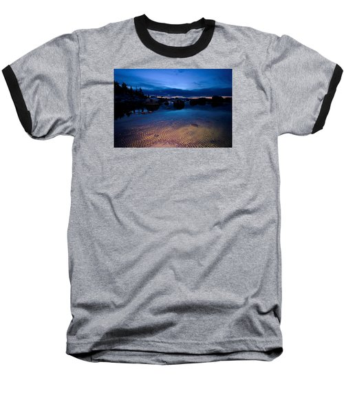 Sunset Sand Ripples Baseball T-Shirt by Sean Sarsfield