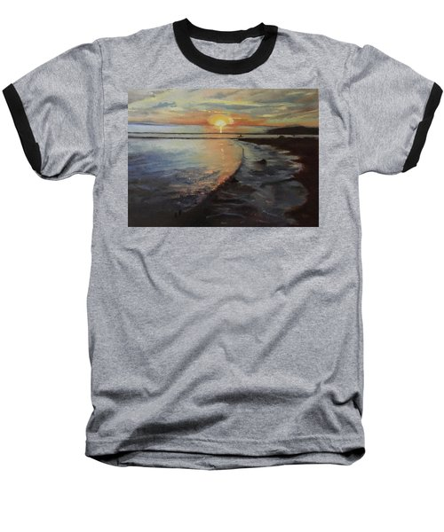 Sunset Sea Baseball T-Shirt