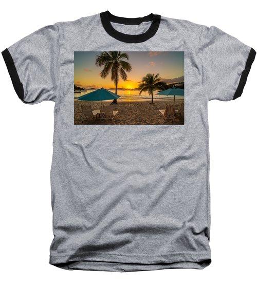 Sunset Secret Harbor Baseball T-Shirt