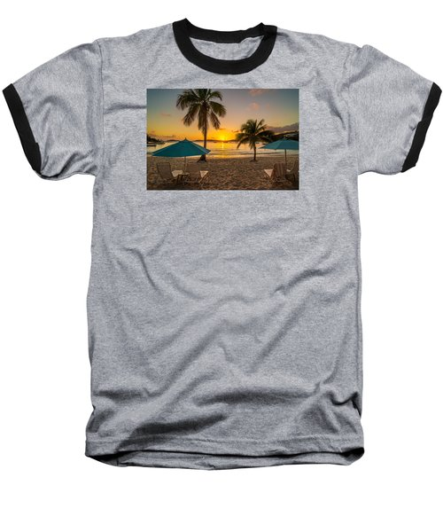 Sunset Secret Harbor Baseball T-Shirt