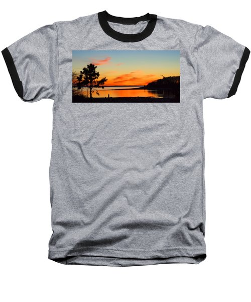 Sunset Serenity Baseball T-Shirt