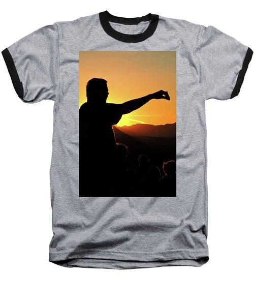 Sunset Silhouette Baseball T-Shirt