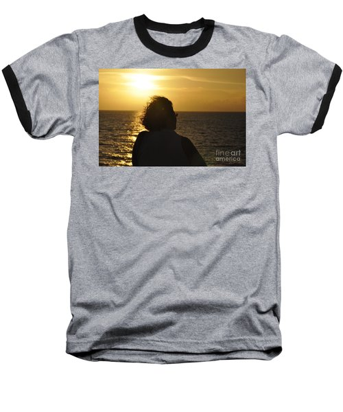 Baseball T-Shirt featuring the photograph Sunset Silhouette by John Black