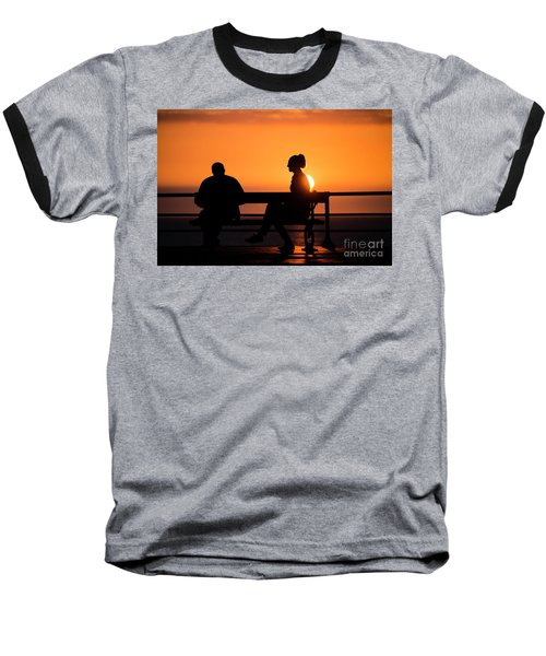 Sunset Silhouettes Baseball T-Shirt
