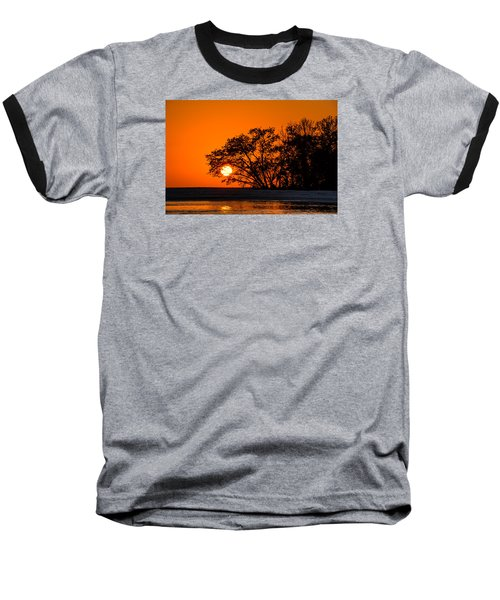 Sunset Sillouette Baseball T-Shirt