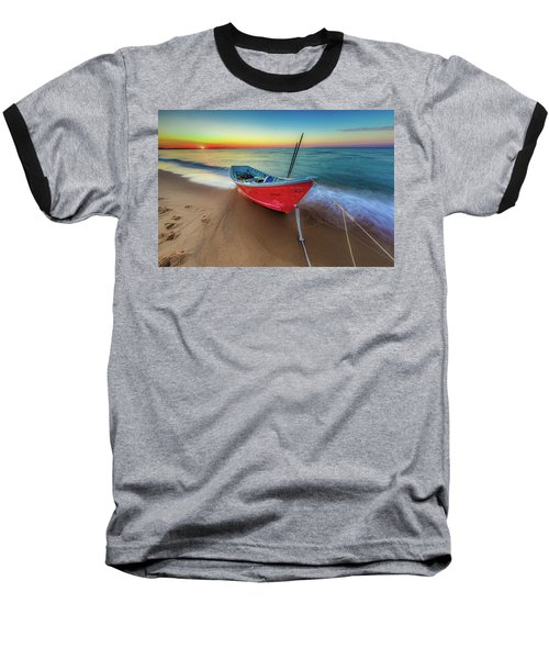 Sunset Skiff Baseball T-Shirt