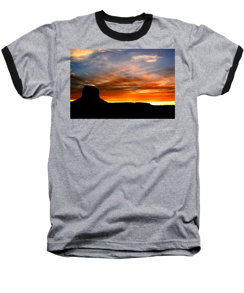 Baseball T-Shirt featuring the photograph Sunset Sky by Harry Spitz