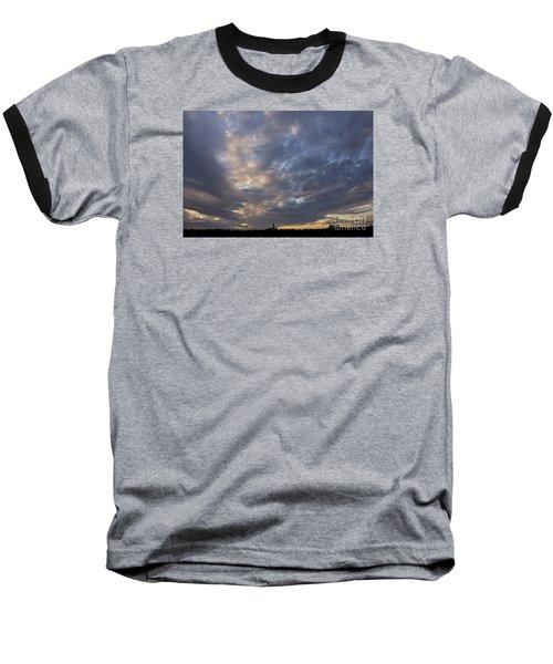 Baseball T-Shirt featuring the photograph Sunset Sky by Inge Riis McDonald