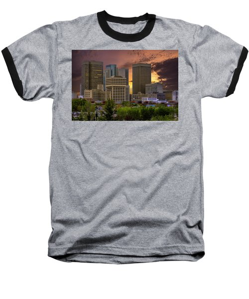 Sunset Skyline Baseball T-Shirt