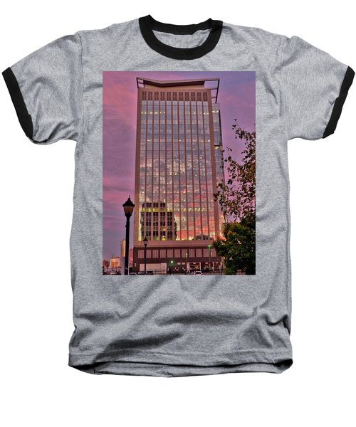 Sunset Skyscraper Baseball T-Shirt
