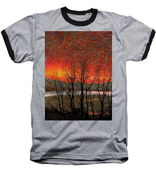 Sunset Soliloquy Baseball T-Shirt by Ed Hall
