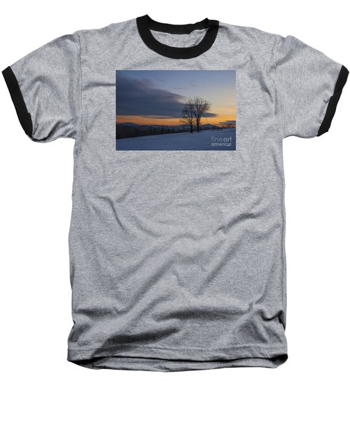 Sunset Solitude Baseball T-Shirt by Alana Ranney