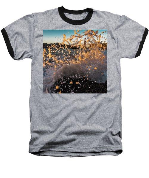 Sunset Splash Baseball T-Shirt