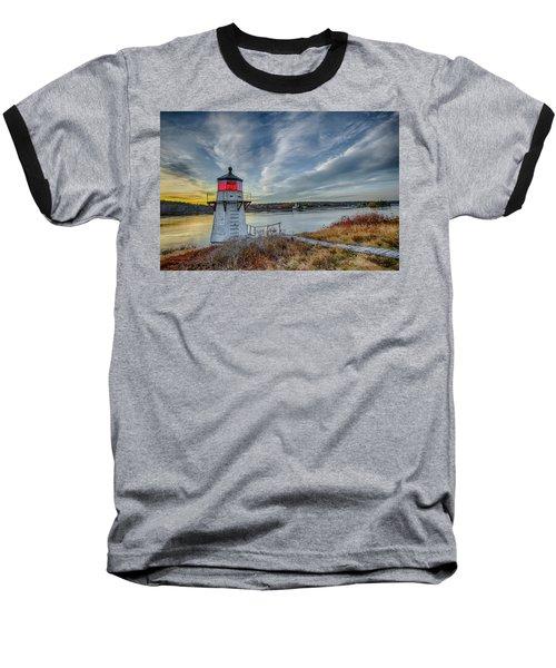 Sunset, Squirrel Point Lighthouse Baseball T-Shirt