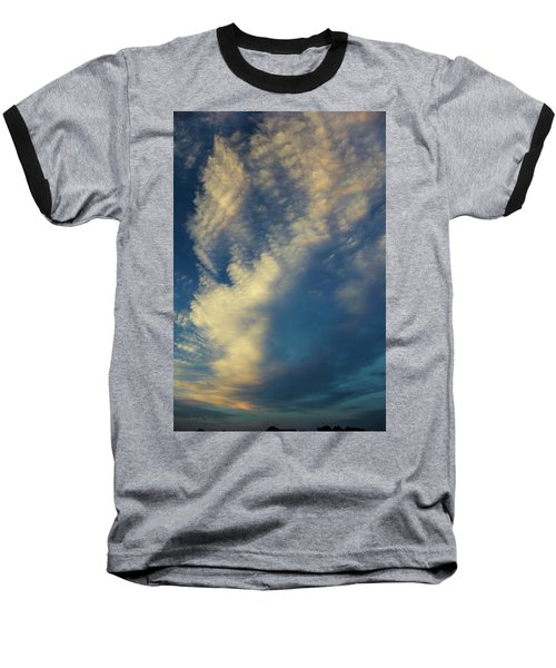 Sunset Stack Baseball T-Shirt by Karen Slagle