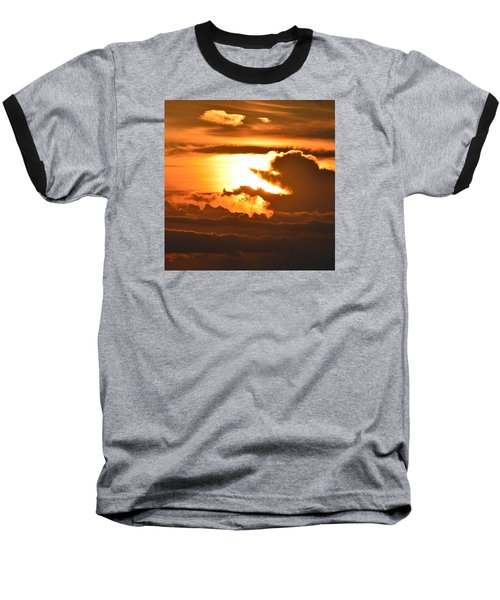 Baseball T-Shirt featuring the photograph Sunset Storm Clouds 2  by Lyle Crump