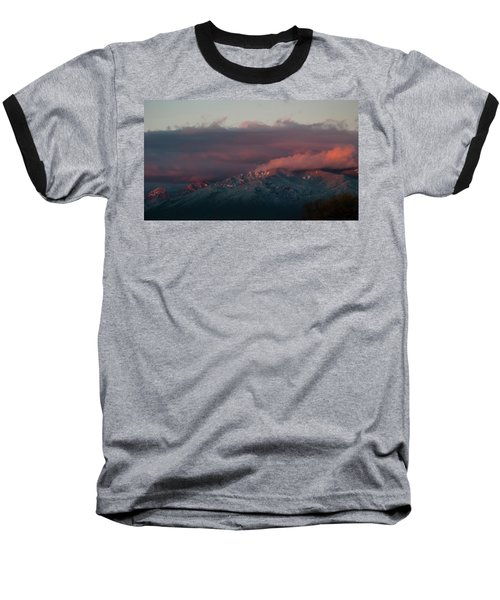 Sunset Storm On The Sangre De Cristos Baseball T-Shirt by Jason Coward