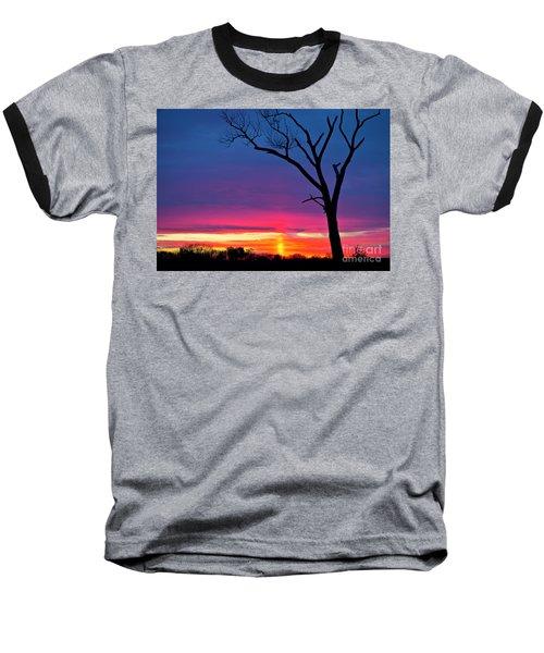 Sunset Sundog  Baseball T-Shirt