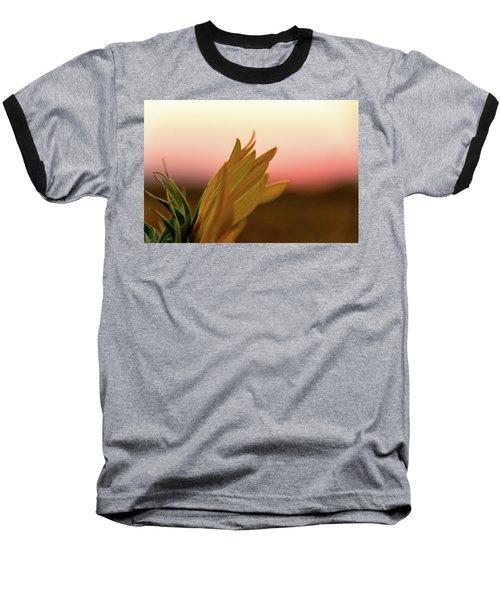 Sunset Sunflower Baseball T-Shirt