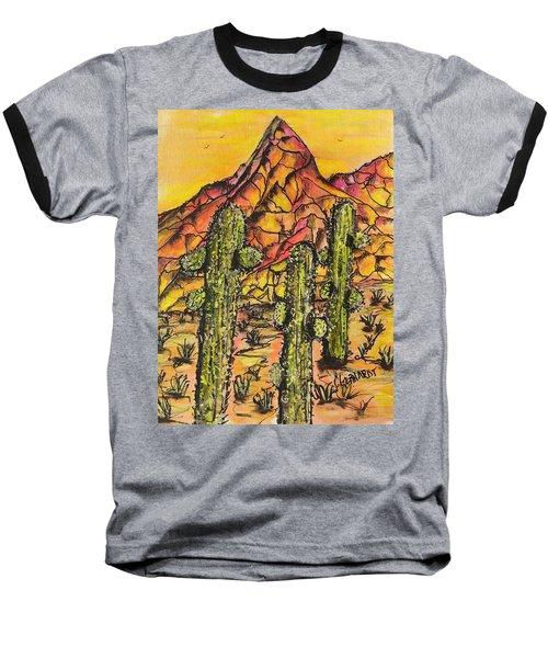 Desert Sunset Sunrise  Baseball T-Shirt